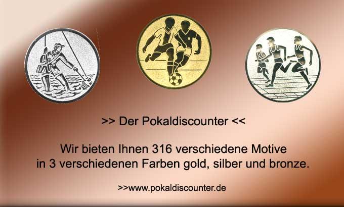 Gravurschilder und Embleme vom Pokaldiscounter